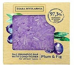 Parfums et Produits cosmétiques Shampooing et après-shampooing solide, Prune et Figue - Stara Mydlarnia Plum & Fig 2in1 Shampoo Bar