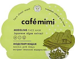 Parfums et Produits cosmétiques Masque tissu à l'extrait d'algues pour visage - Cafe Mimi Modeling Fase Mask Japanese Algae Extract