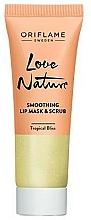 Parfums et Produits cosmétiques Gommage et masque à l'extrait de lime pour lèvres - Oriflame Love Nature Smoothing Lip Mask & Scrub