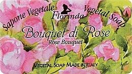Parfums et Produits cosmétiques Savon naturel artisanal, Bouquet de roses - Florinda Sapone Vegetale Vegetal Soap Rose Bouquet