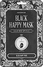 Parfums et Produits cosmétiques Masque tissu à l'extrait de papaye pour visage - Kocostar Black Happy Mask