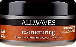 Parfums et Produits cosmétiques Masque à l'extrait de cacao et kératine pour cheveux - Allwaves Chocolate And Ceratine Restructuring Mask