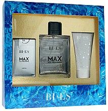 Parfums et Produits cosmétiques Bi-Es Max Ice Freshness - Set (eau de toilette 100ml + eau de parfum 15ml + gel douche 50ml)