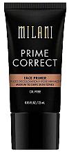 Parfums et Produits cosmétiques Base correctrice pour visage - Milani Prime Correct Diffuses Discoloration + Pore-minimizing Face Primer Medium/Dark