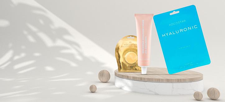 Obtenez un masque pour visage gratuit pour l'achat de produits Kocostar à partir de 12 €