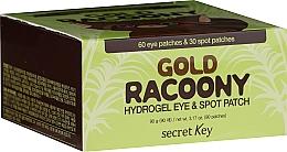 Parfums et Produits cosmétiques Patchs hydrogel aux extraits d'Or et aloès pour les contour des yeux - Secret Key Gold Racoony Hydrogel Eye Spot Patch