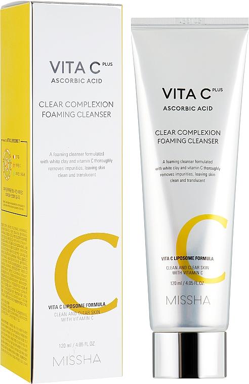 Mousse nettoyante à l'argile blanche et vitamine C pour visage - Missha Vita C Plus Clear Complexion Foaming Cleanser — Photo N1