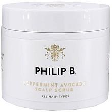 Parfums et Produits cosmétiques Gommage capillaire à l'huile d'avocat et menthe - Philip B Peppermint Avocado Scalp Scrub