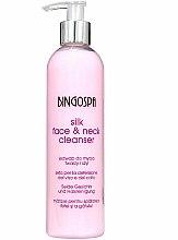 Parfums et Produits cosmétiques Lait nettoyant aux protéines de soie pour visage et cou - BingoSpa Silk Face&Neck Cleanser