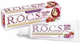 Parfums et Produits cosmétiques Dentifrice, Fantaisie de baies - R.O.C.S. Kids Raspberry and Strawberry