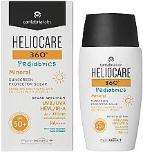 Parfums et Produits cosmétiques Fluide solaire minéral pour peaux sensibles et atopiques - Cantabria Labs Heliocare 360? Pediatrics Mineral SPF 50+