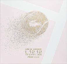 Parfums et Produits cosmétiques Lacoste Eau de Lacoste L.12.12 Pour Elle Sparkling - Coffret (eau de toilette/90ml + gel douche/150ml)