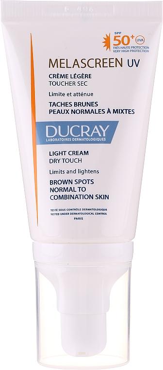 Crème légère anti-taches pigmentaires pour visage - Ducray Melascreen UV Light Cream SPF 50+