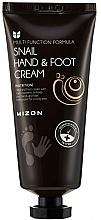 Parfums et Produits cosmétiques Crème à l'extrait de bave d'escargot pour mains et pieds - Mizon Snail Hand And Foot Cream