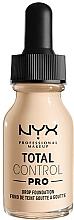Parfums et Produits cosmétiques Fond de teint - NYX Professional Total Control Pro Drop Foundation