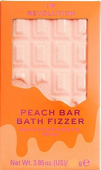 "Bombe de bain effervescente, Pêche - I Heart Revolution Chocolate Bar Bath Fizzer ""Peach"" — Photo N1"