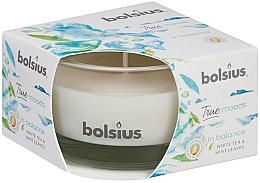 Parfums et Produits cosmétiques Bougie parfumée en verre, Thé blanc et Feuilles de menthe, 50/80 mm - Bolsius True Moods Candle