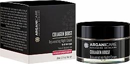 Parfums et Produits cosmétiques Crème de nuit à l'huile d'argan et collagène - Arganicare Collagen Boost Rejuvenating Night Cream