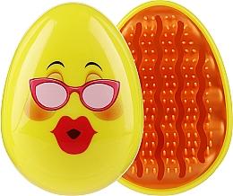 Parfums et Produits cosmétiques Brosse à cheveux compacte 3002W, souris avec lunettes - IDC Design Smile Brush