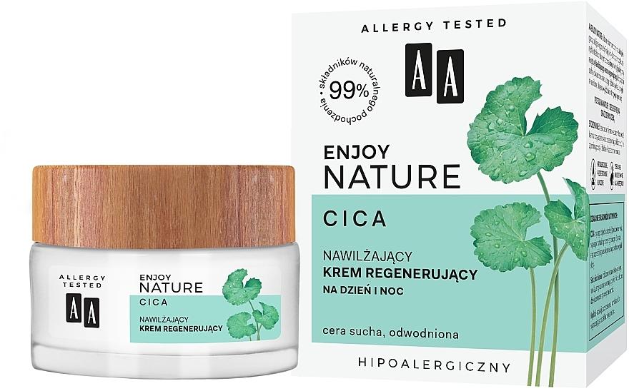 Crème régénérante pour visage - AA Enjoy Nature Cica Moisturising Regenerating Cream