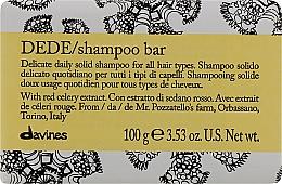 Parfums et Produits cosmétiques Shampooing solide à l'extrait de céleri rouge - Davines Shampoo Bar