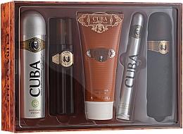 Parfums et Produits cosmétiques Cuba Gold - Set (eau de toilette/100ml + déodorant spray/200ml + baume après-rasage/100ml + gel douche/200ml + eau de toilette/35ml)