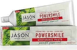 Parfums et Produits cosmétiques Dentifrice blanchissant sans fluor, goût menthe poivrée - Jason Natural Cosmetics PowerSmile All Natural Whitening Toothpaste