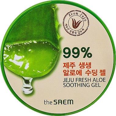 Gel apaisant à l'aloe vera 99%, visage et corps - The Saem Jeju Fresh Aloe Soothing Gel 99%