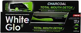 Parfums et Produits cosmétiques White Glo Charcoal Total Mouth Detox - Set (dentifrice/150g + brosse à dents)