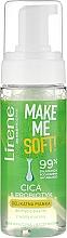 Mousse nettoyante à l'eau marine pour visage - Lirene Make Me Soft Cica & Probiotyk — Photo N1