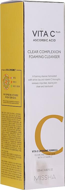 Mousse nettoyante à l'argile blanche et vitamine C pour visage - Missha Vita C Plus Clear Complexion Foaming Cleanser — Photo N3