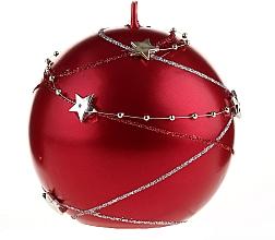Parfums et Produits cosmétiques Bougie décorative ronde, 10x10 cm, rouge - Artman Christmas Garland