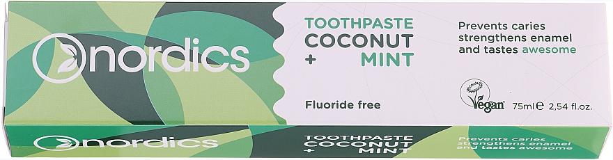 Dentifrice à l'huile de noix de coco et menthe - Nordics Coconut + Mint Toothpaste