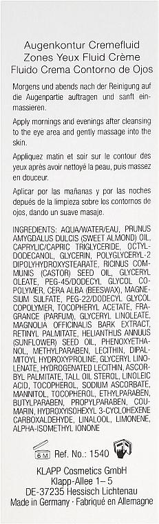 Crème-fluide à l'huile d'amande douce contour des yeux - Klapp Collagen CSIII Eye Zone Cream Fluid — Photo N3
