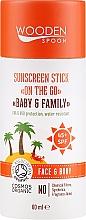 Parfums et Produits cosmétiques Stick solaire - Wooden Spoon Sunscreen Stick On The Go SPF 45