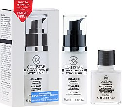 Parfums et Produits cosmétiques Collistar Uomo Attivi Puri Collageno Anti-Arrugas Regenerante - Set (crème anti-rides/30ml+après-rasage/15ml)