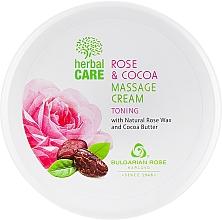 Parfums et Produits cosmétiques Crème de massage au beurre de cacao et cire de fleur de rose - Bulgarian Rose Herbal Care Rose & Cococa Massage Cream