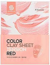 Parfums et Produits cosmétiques Masque tissu d'argile raffermissant pour visage - G9Skin Color Clay Sheet Tension Red