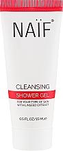 Parfums et Produits cosmétiques Gel douche corps à l'extrait de graines de lin - Naif Cleansing Shower Gel (mini)
