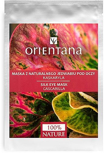 Masque tissu en soie naturelle à la cascarilla pour contour des yeux - Orientana Eye Silk Pad Cascarilla
