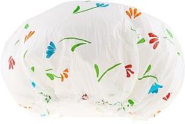 Parfums et Produits cosmétiques Bonnet de douche, 9298, blanc avec fleurs - Donegal Shower Cap