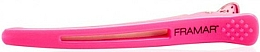 Parfums et Produits cosmétiques Pinces à cheveux avec bande en silicone, rose - Framar Elastic Sectioning Hair Clips