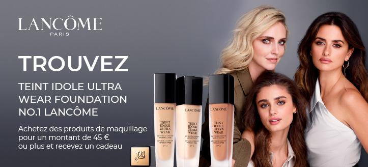 Achetez des produits de maquillage Lancôme pour un montant de 45 € ou plus et recevez un cadeau