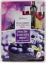 Parfums et Produits cosmétiques Masque en tissu hydratant au vin et baies - Deoproce Color Synergy Effect Sheet Mask Purple