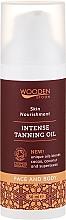 Parfums et Produits cosmétiques Huile de bronzage au beurre de cacao pour visage et corps - Wooden Spoon Intense Tanning Oil
