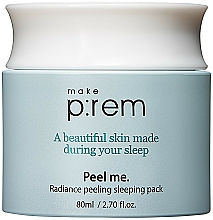 Parfums et Produits cosmétiques Crème-masque de nuit aux acides PHA - Make P rem Radiance Peeling Sleeping Pack