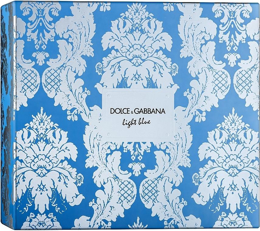 Dolce & Gabbana Light Blue - Coffret (eau de toilette/100ml + crème pour corps/50ml + eau de toilette/10ml)