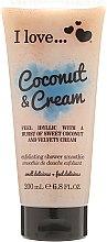 Parfums et Produits cosmétiques Smoothie de douche exfoliant Noix de coco et Crème - I Love... Coconut & Cream Velvety Hydrates Exfoliating Shower Smoothie