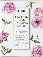 Parfums et Produits cosmétiques Masque apaisant à l'extrait de rose et arbre à thé pour visage - Petitfee&Koelf Tea Tree Rose Calming Mask