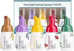 Parfums et Produits cosmétiques Huangjisoo Pure Daily Foaming Cleanser Trial - Kit (mousse nettoyant pour visage/5x30ml)